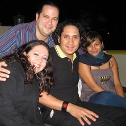 With wife Yudeski, Guitarist/Producer Luis Payán and Singer/Songwriter Ana Féliz (Marteovenus) (Santo Domingo December 2007)