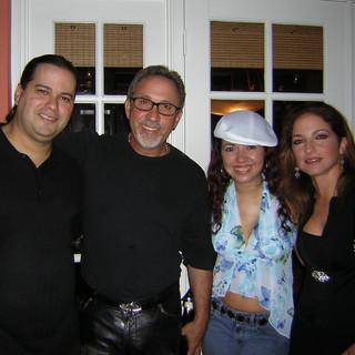 With Latin Music Icons Gloria and Emilio Estefan at Arturo Sandoval's Birthday Party (November 2004)