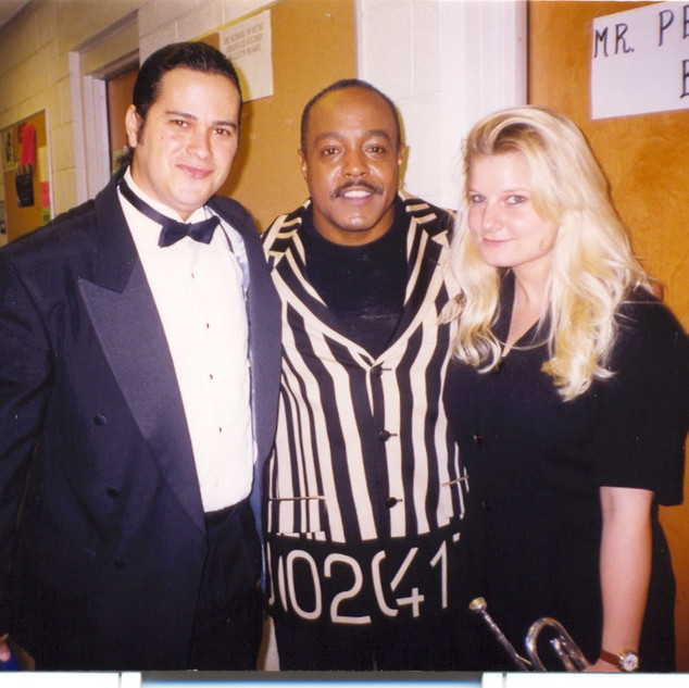 With Grammy-winners Peabo Bryson and Cindy Shea after our performance back in 1997