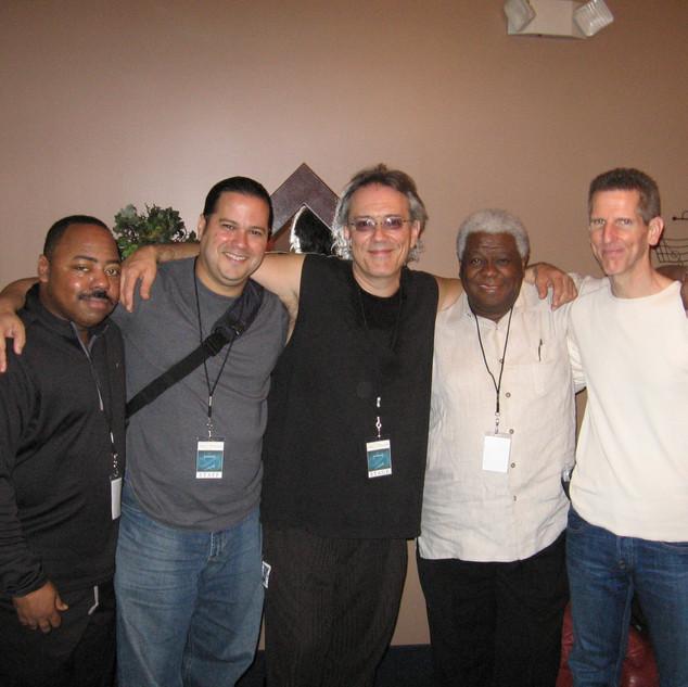 With Guitarist Paul Jackson Jr., Drummer Vinnie Colaiuta, Bassist Abraham Laboriel and Keyboardist Tom Brooks (Miami December 2005)