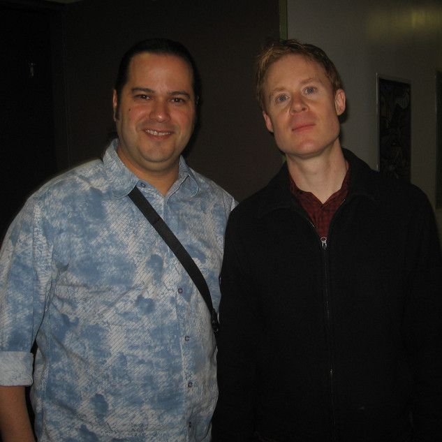 With Drummer/Composer Bill Stewart after their John Scofield Trio Show (Miami April 2007)