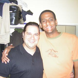With dear friend Bassist Juan Adriano Modesto (Madrid, Spain June 2005)