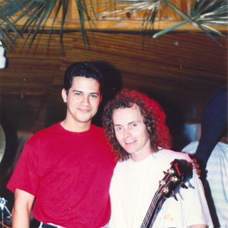 With Bassist Mark Egan (Puerto Plata, Dominican Republic 1992)
