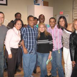 """With Yanina Rosado, Luisín Del Rosario, Juan De La Cruz (Chocolate), Marcos Severino, Pedro Miguel Morales, Judith Pérez """"Taína"""", Iris Torres and Lizzie Lizzie after rehearsing for her show (Miami November 2007)"""