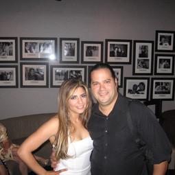 With Grammy-winner Recording Artist Lena Burke at Arturo Sandoval's Jazz Club before our Malena Burke Show (Miami Beach August 2006)