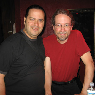 With Bassist Extraordinaire Jimmy Johnson after their Allan Holdsworth Trio Show (Miami June 2007)