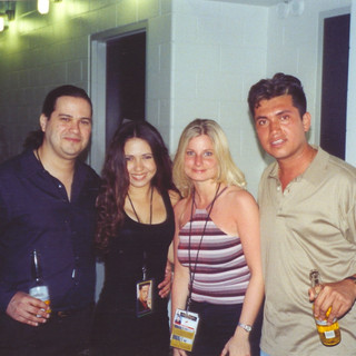 With wife Yudeski, Grammy-award winner Cindy Shea (Trumpet/Bandleader) and Trombonist/Composer/Producer Alejandro Carballo (Luis Miguel, No-Pals) (Miami 2000)