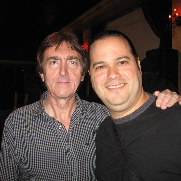 With Guitarist/Composer Allan Holdsworth (RIP) after his show (Miami June 2007)