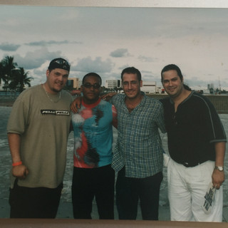 With Grammy-Winner Recording Artist/Composer/Jazz Pianist Gonzalo Rubalcaba along with Bassist Jaime Rivera and Pianist Rey Rivera (September 2nd, 2001)