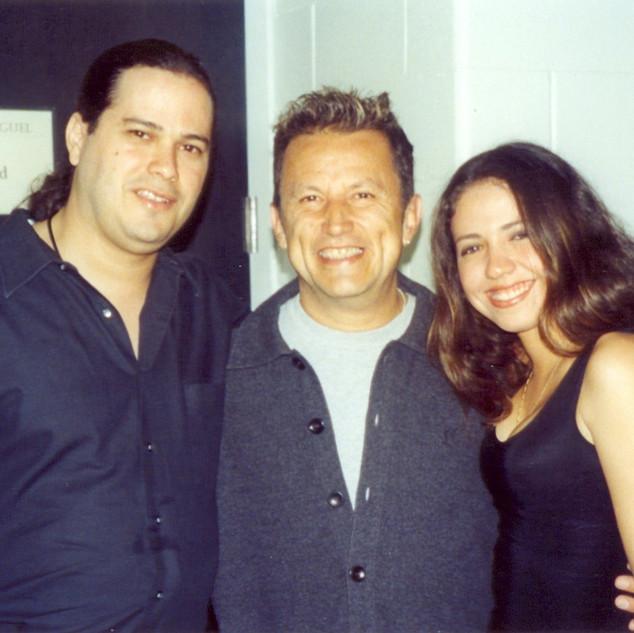 With Bassist Lalo Carrillo (Luis Miguel, No-Pals) (Miami 2000)