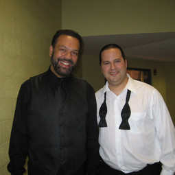 """With Maestro Angel """"Cuco"""" Peña after our performance on Marco Antonio Solís Latin Grammy Tribute TV Special (Miami July 2007)"""