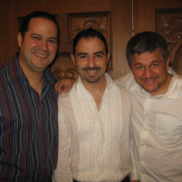 With Drummers Rey Monroig and Carlomagno Araya (Miami March 2008)