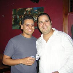 With Saxophonist/Arranger/Producer Javier Olivencia (Ricky Martin MTV Unplugged) (July 2005)
