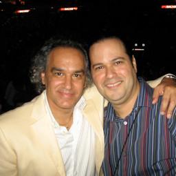 With Maestro José Antonio Molina (Composer/Orchestrator/Conductor Extraordinaire) (Miami July 2008)
