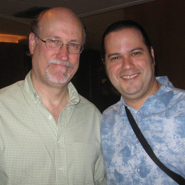 With Guitarist/Composer John Scofield after his show (Miami April 2007)