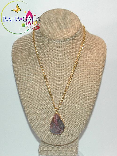 Natural Purple Agate Pendant.