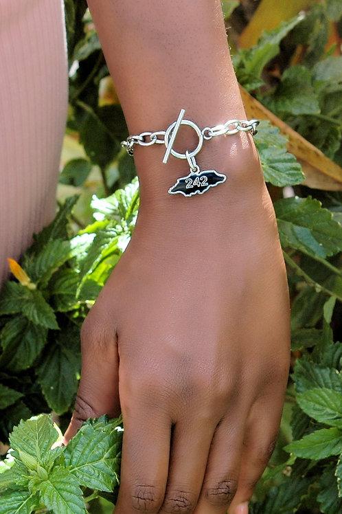 """242-My Bahamas"" Stainless Steel Bracelet."