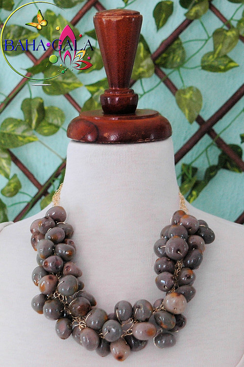 Natural Bahamian Nikka Seeds Necklace & Earring Set.