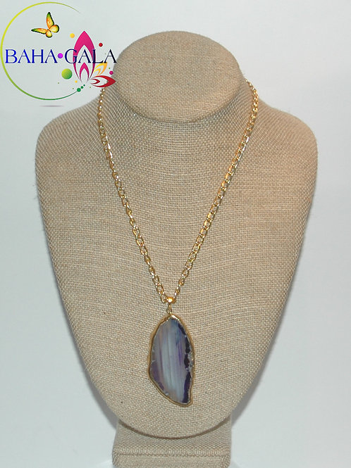 Natural Purple Agate Pendant.