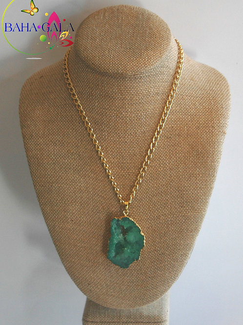 Natural Green Agate Pendant.