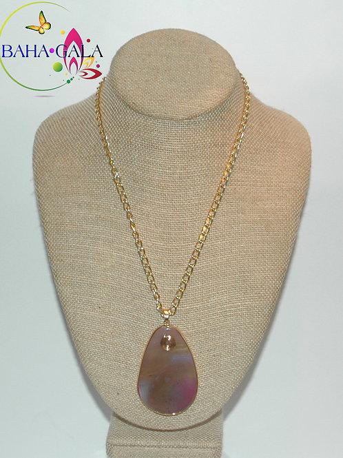 Natural Lavender Hues Agate Pendant.