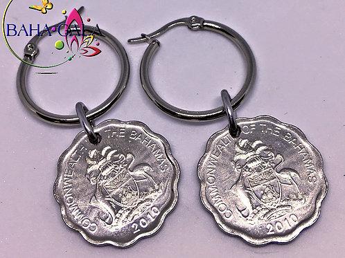 BG $0.5 Cent Stainless Steel Hoop Earring.