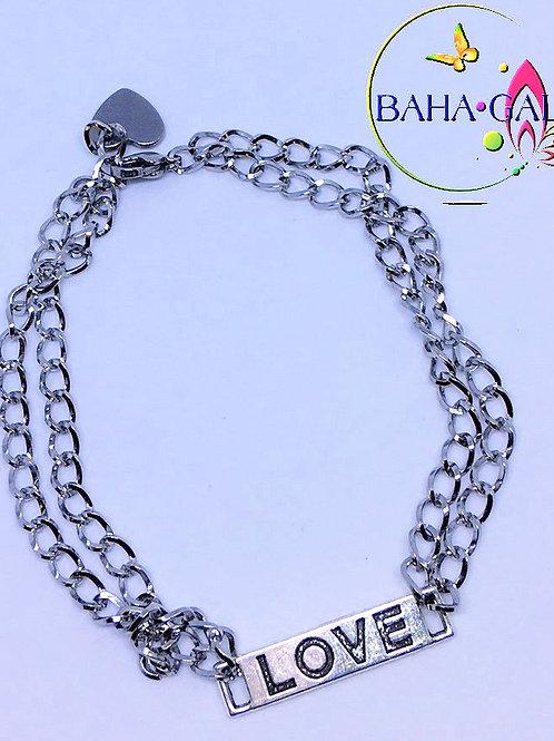 """BG Double Strand """"LOVE"""" Bracelet."""