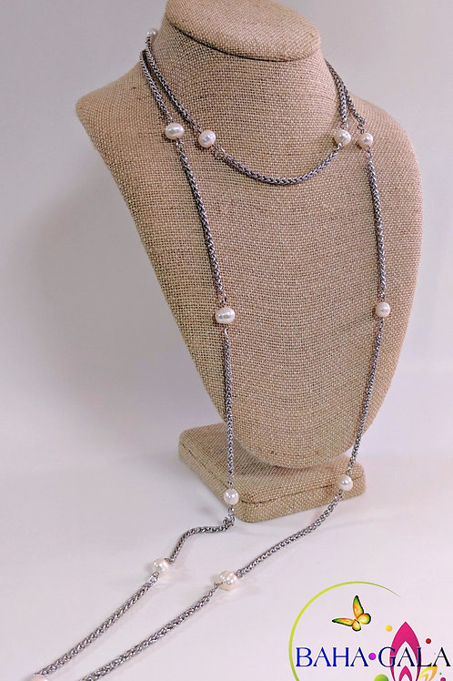 Freshwater Pearls Opera Necklace & Earring Set.