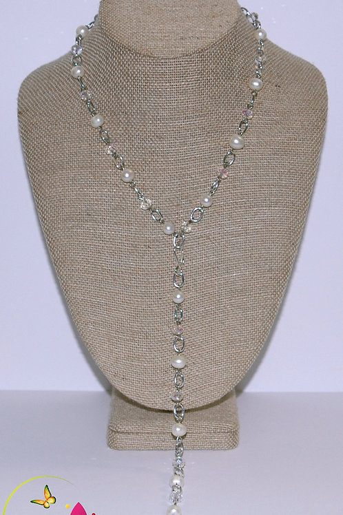 3 Piece Freshwater Pearl Necklace Set.