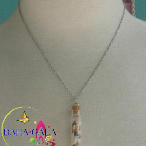 Natural Bahamian Miniature Sea Shells Pendant.