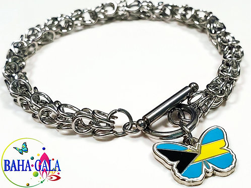 "The Lovely ""Bahamian Butterfly"" Charm Bracelet."