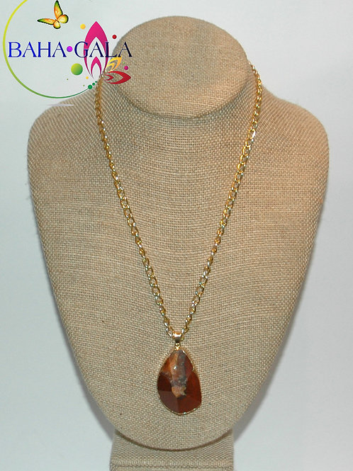 Natural Earth Tone Agate Pendant.