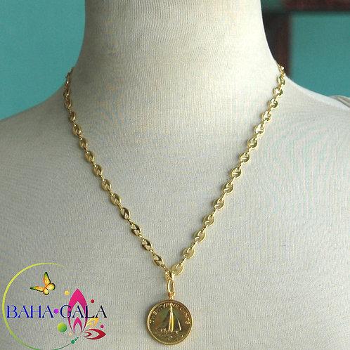 Gold Bahamian 0.25 Cents Pendant.