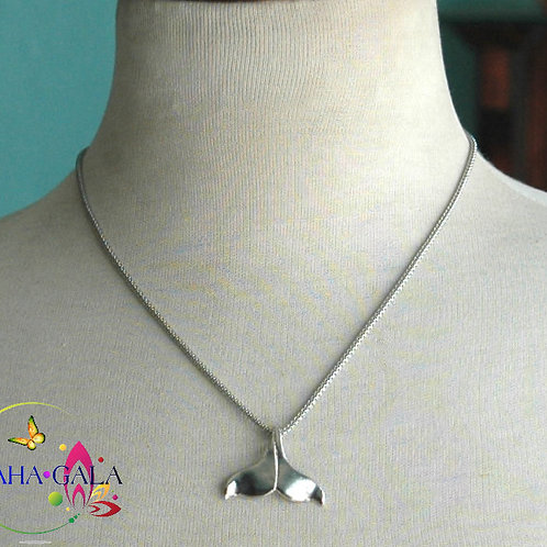 Stainless Steel Dolphin Tail Pendant.