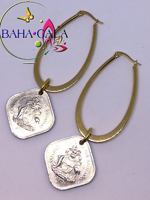 BG $0.15 Cent Stainless Steel Hoop Earring.