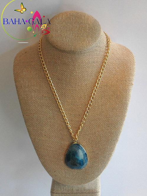 Natural Indigo Agate Pendant.