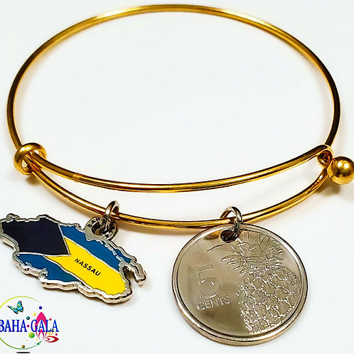 """The Lovely """"Providence"""" Charm & Coin Bangle."""