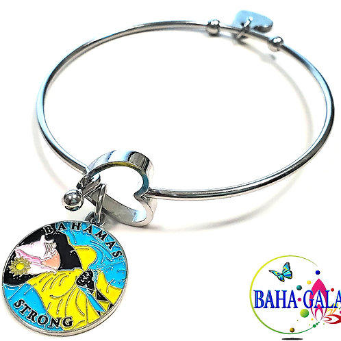 Bahamas Strong - Bahamian Flag Stainless Steel Bracelet.