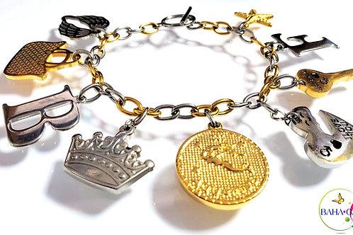 Beautiful Stainless Steel Charm Bracelet