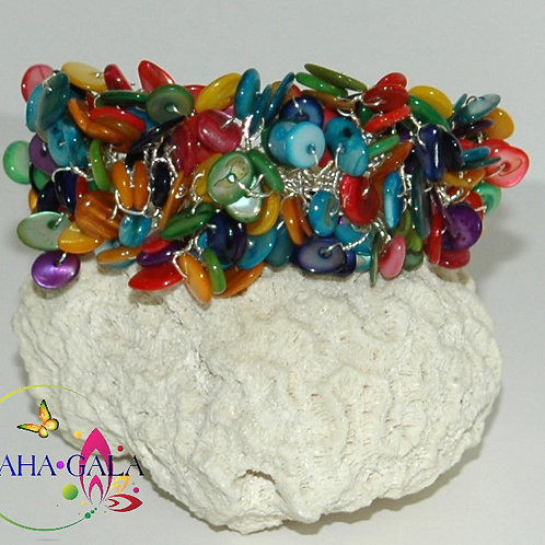 Multicolored Mother Of Pearl Bracelet.