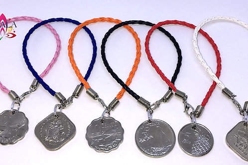 Leather Coin Bracelets