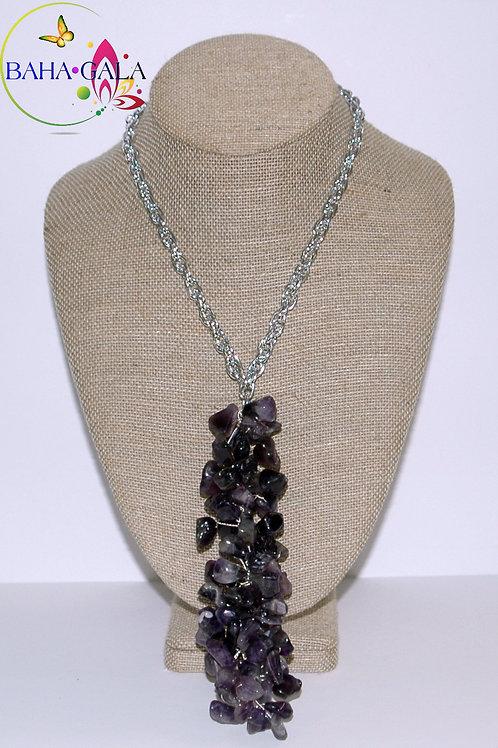 Natural Amethyst Necklace Set.