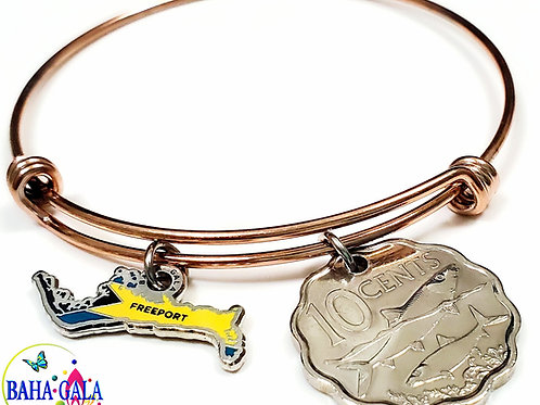 """The Lovely """"Grand"""" Charm & Coin Bangle."""