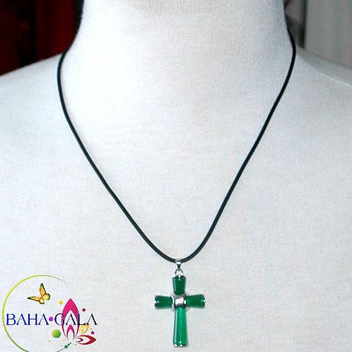 Jade Cross Pendant.