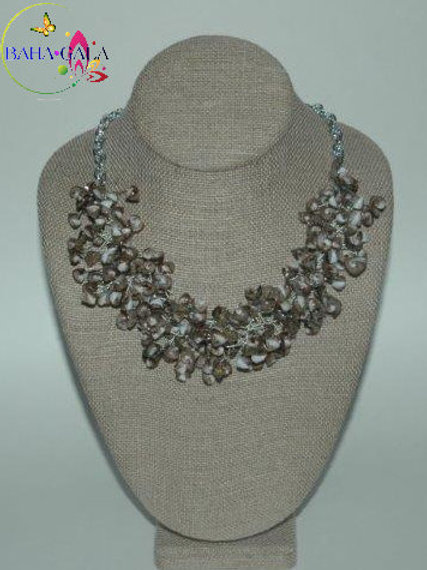 Natural Abolone Shell Chips Necklace & Earring Set