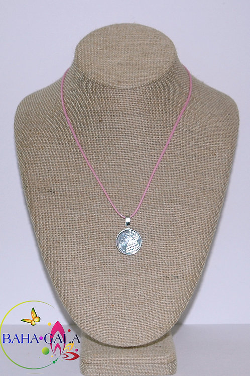 Authentic Bahamian Bahamian Coin Pendant Accented on Leather Chain.