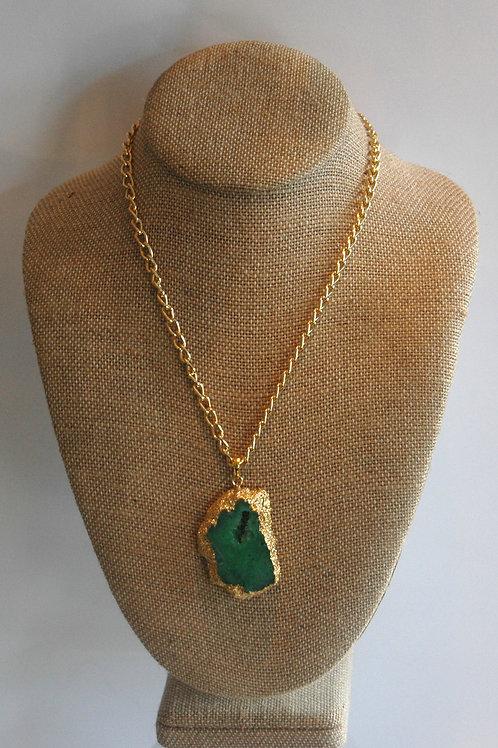 Natural Green Agate Pendant.