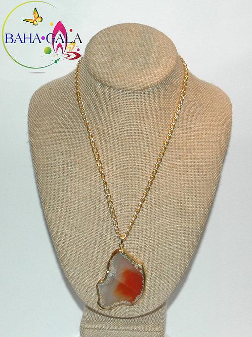 Natural Rust & Natural Hue Agate Pendant.