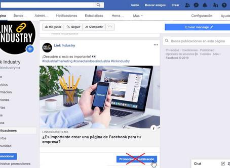 Lo que nadie te dice sobre el botón de promocionar publicación en Facebook