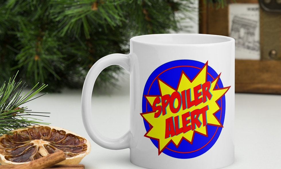 """No Spoilers But..."" Mug"